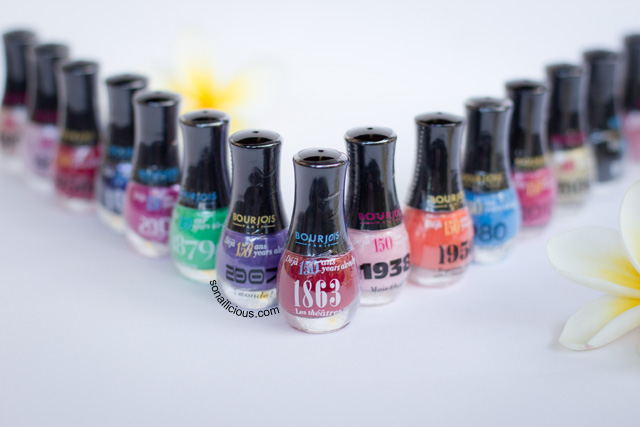 BOURJOIS 150TH ANNIVERSARY LIMITED EDITION POLISHES
