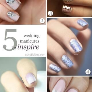 best bridal manicures, bridal nails