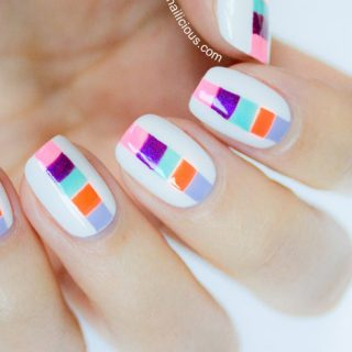 color block nails how to