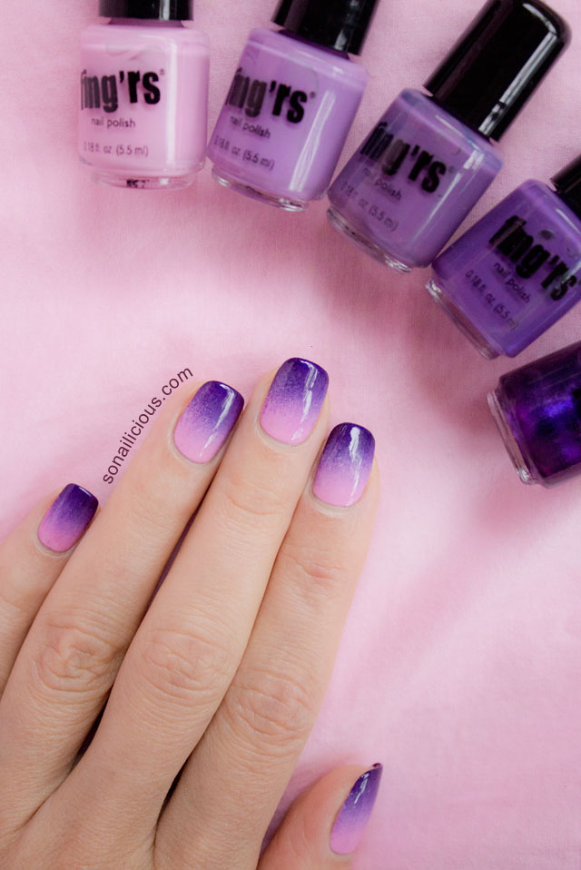 fingrs edge ombre nails