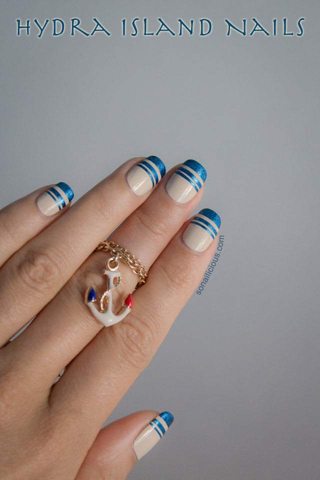 Top Coat Paint >> Hydra Island Inspired Nautical Nails