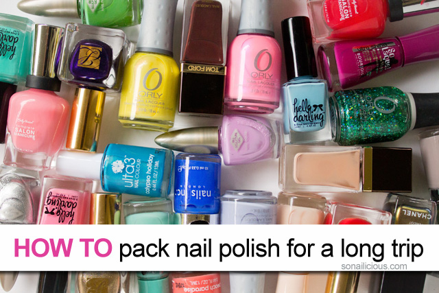 how to pack nail polish