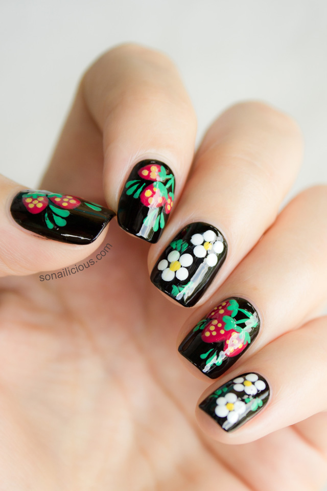 Matryoshka Doll Inspired Russian Nails
