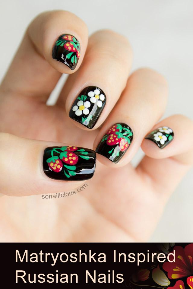russian nails, matryoshka nails 1