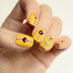 Neon Mosaic Summer Nails – Tutorial
