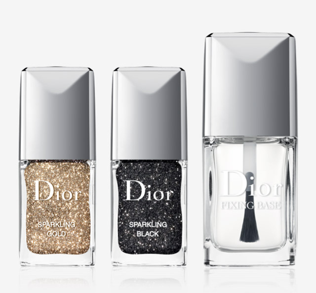 dior sparkling gold and sprkling black glitter powder