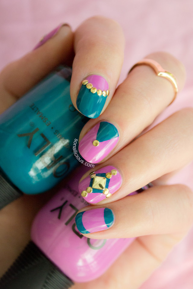 orly teal unreal nails