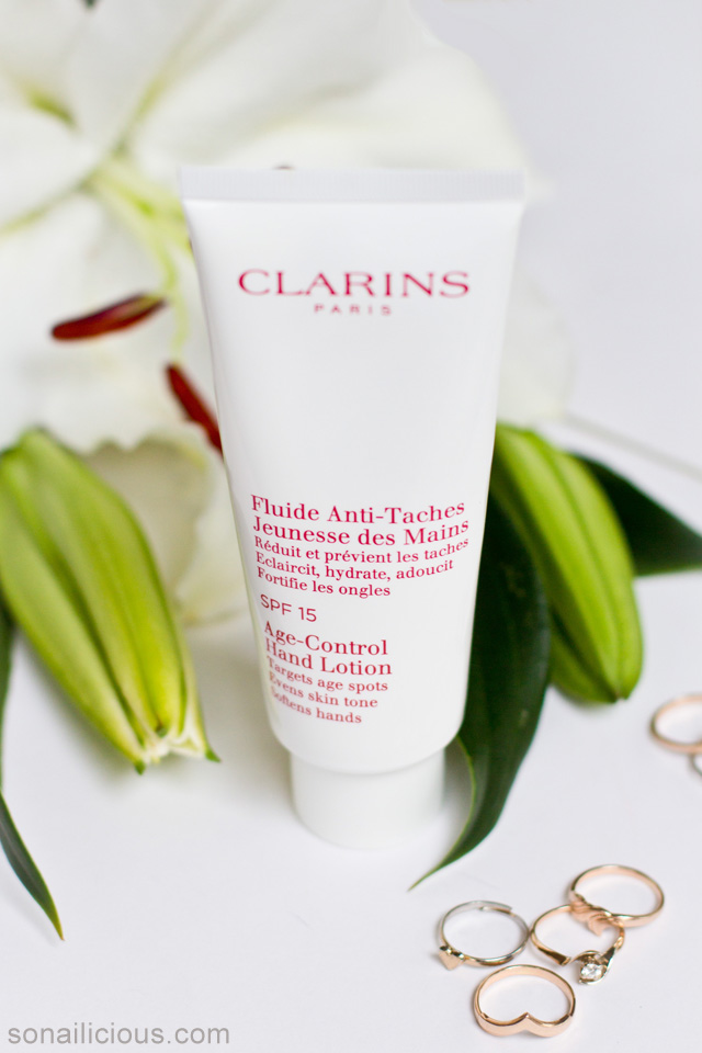 clarins age control hand lotion