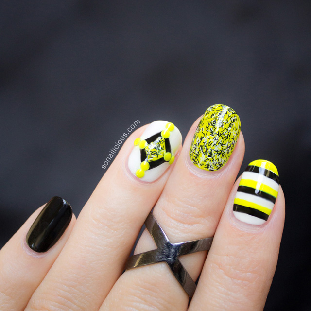 cool neon nails