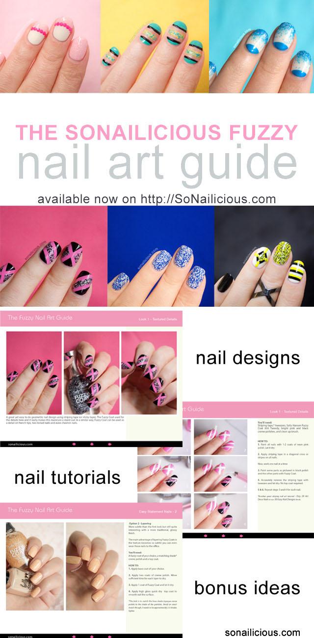 fuzzy coat nail art tutorials preview