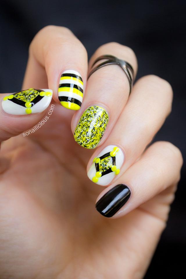 fuzzy coat nail polish nail art 2