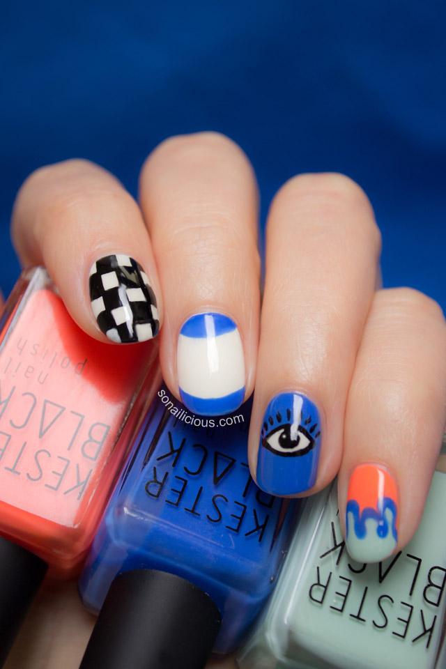 kenzo eye nail art