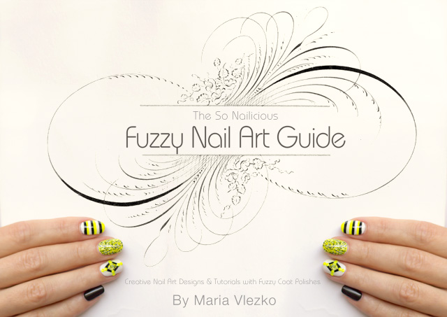nail art tutorials fuzzy coat