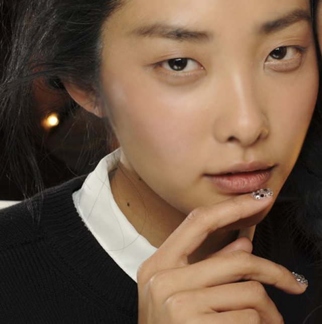 spring nail designs london fashion week Giles