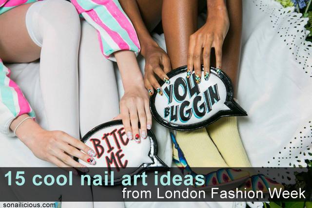 spring nail designs 2014 london fashion week