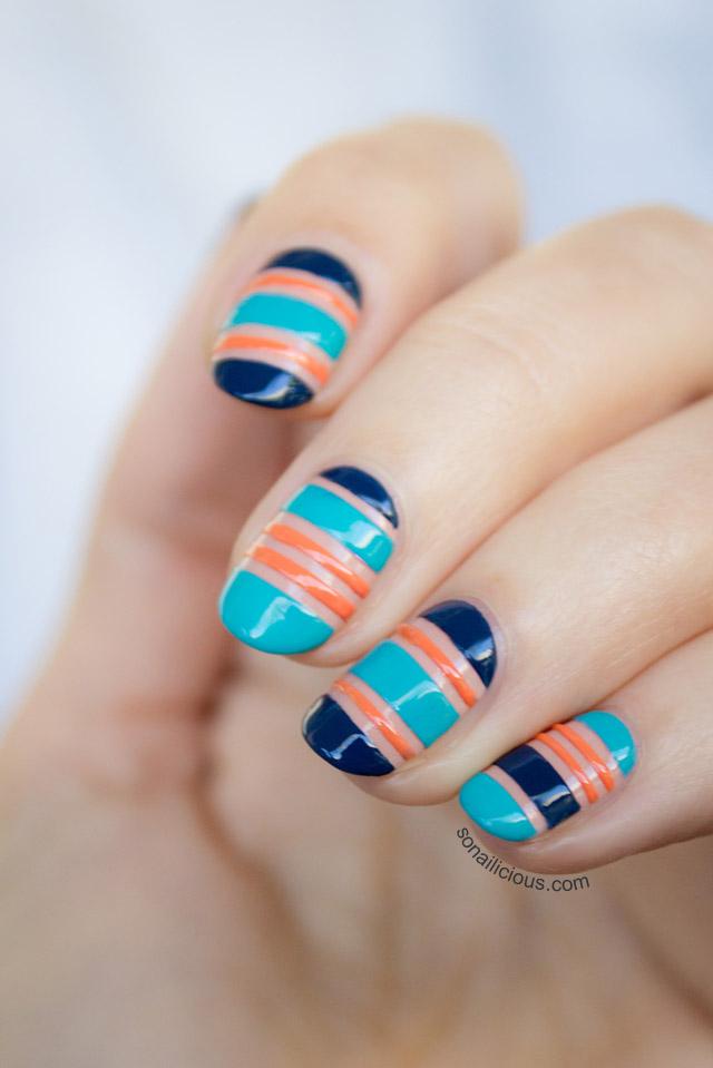 beautiful nautical nail art