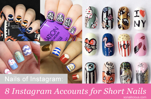 instagram nails, best nail instagram accounts short nails