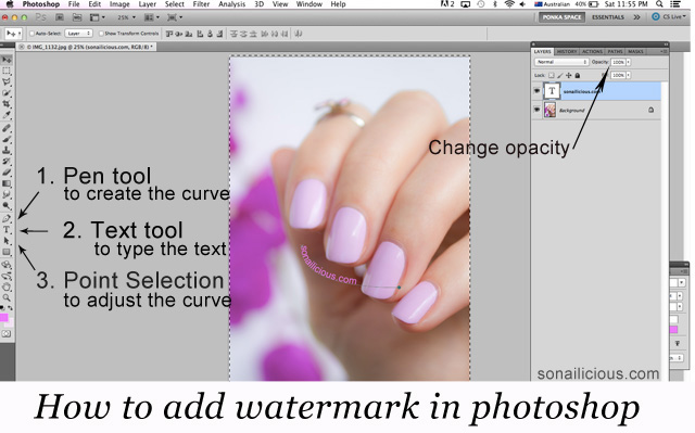 how to add watermark to photos in photoshop