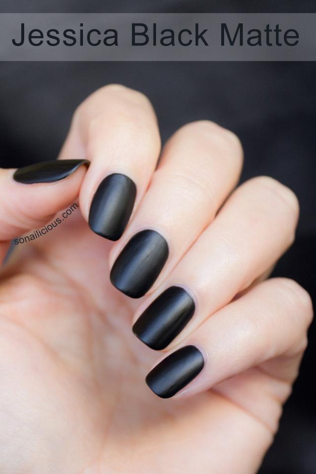 jessica black matte nail polish