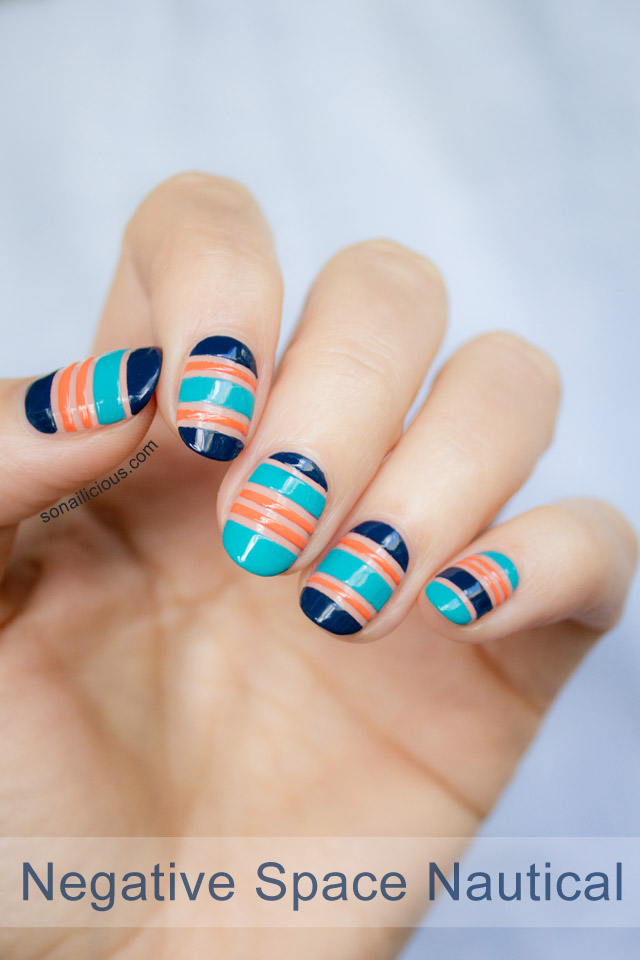 nautical nails tutorial, nautial nails how to 1