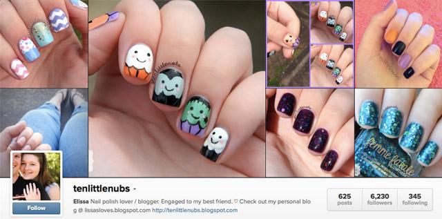 tenlittlenubs nails instagram