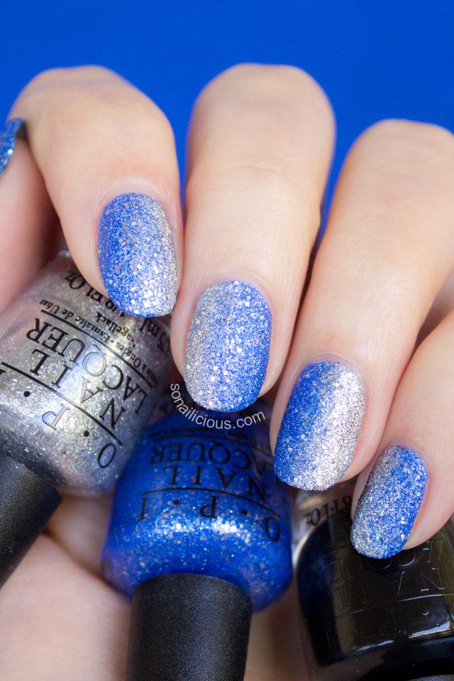 Opi mariah carey liquid sands nail art