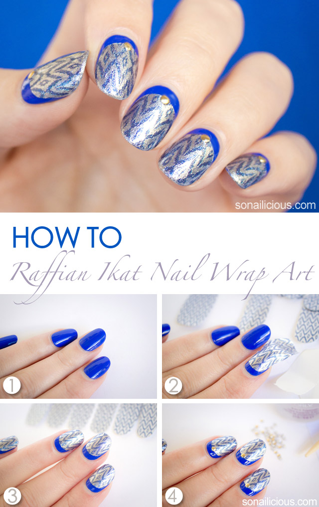 raffian nail art how to with incoco nail strips