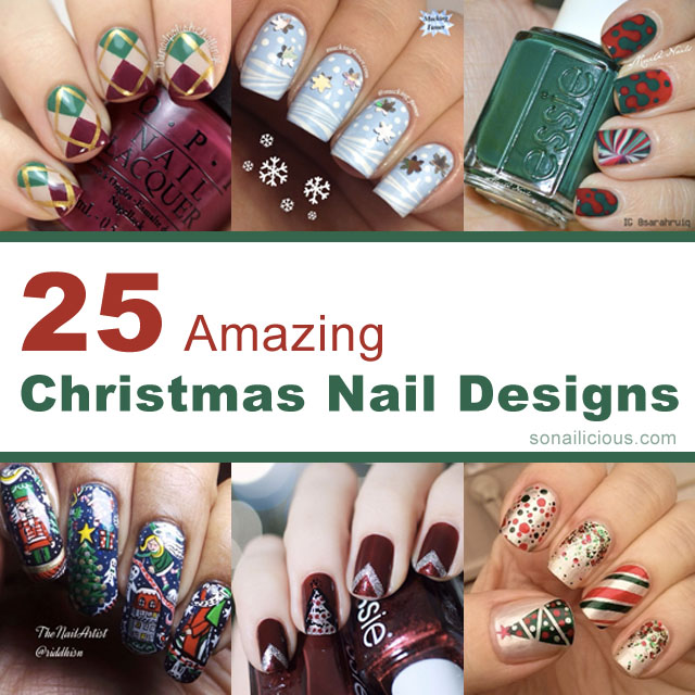 Christmas Nail Designs Tutorial: 25 Best Christmas Nail Designs