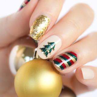 christmas nail art by sonailicious