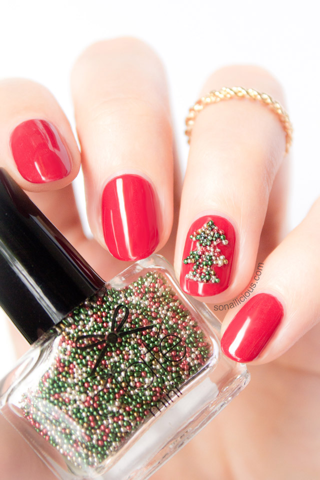easy christmas tree nails ciate caviar