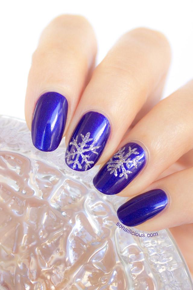 easy snowflake nail art ...