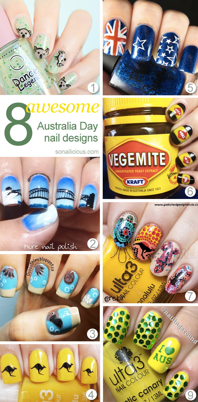 8 best australia day nails ideas