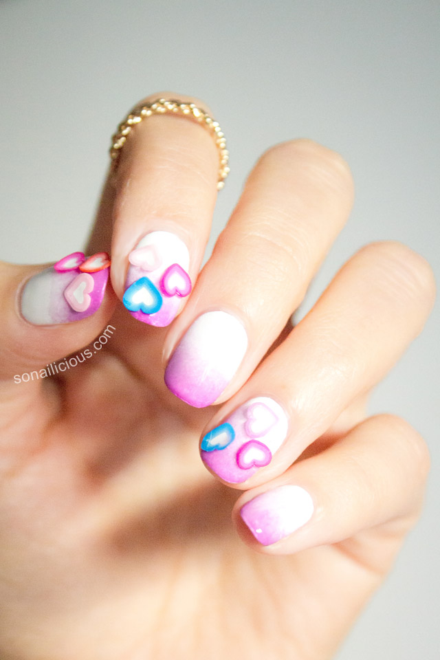 easy valentines day nails