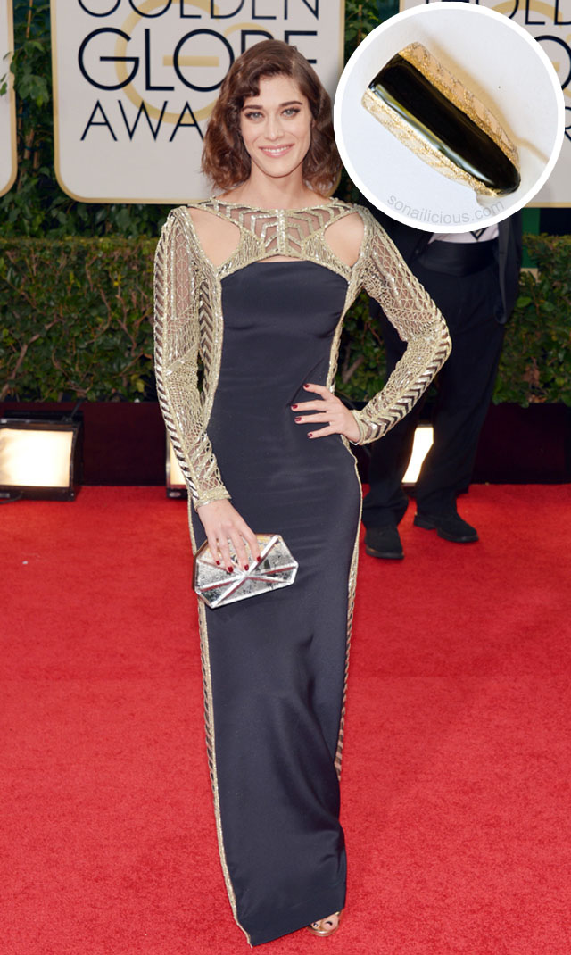lizzy caplan golden globes 2014 best dresses