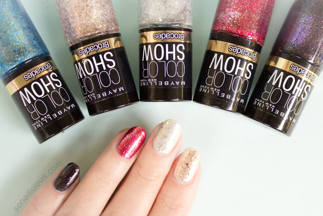 maybelline brocade nail polish review swatches