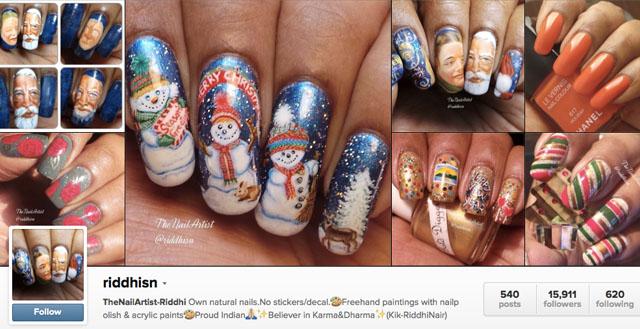 riddhisn instagram nails