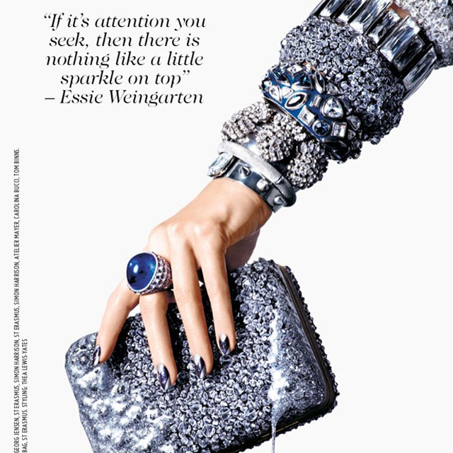 Sabrina Gayle for British Vogue December Issue using Essie