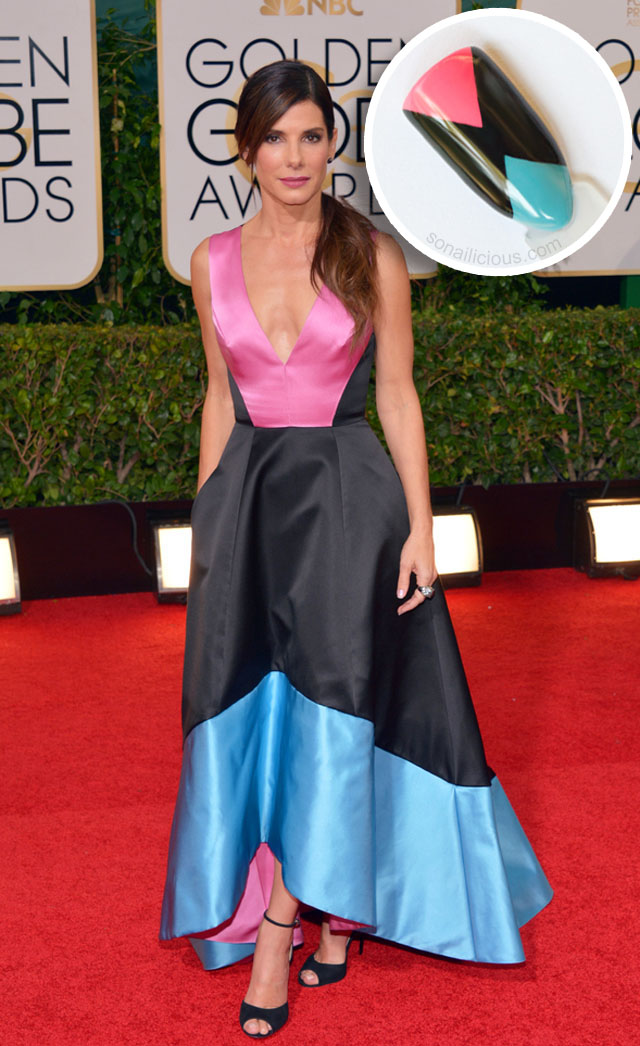 sandra bullock golden globes 2014 best dresses