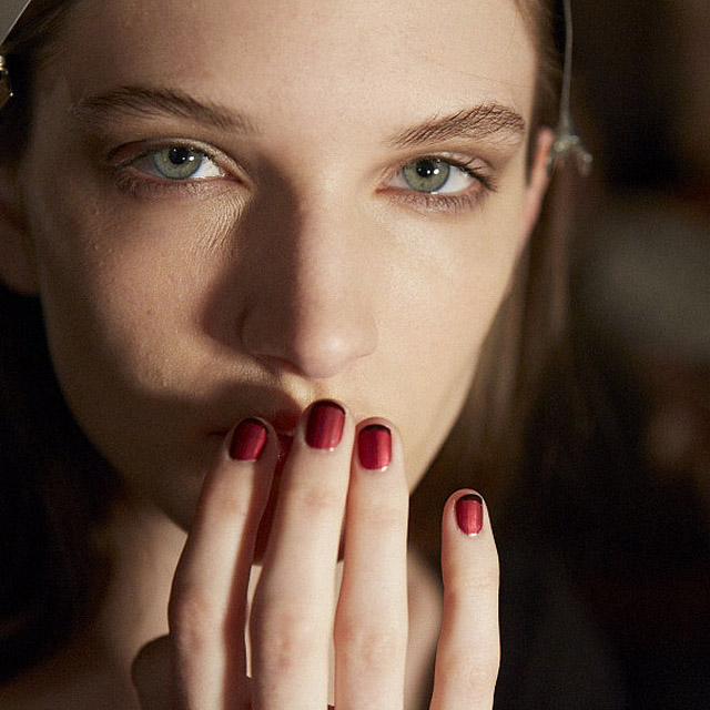 Matte French nails by Essie for Wes Gordon