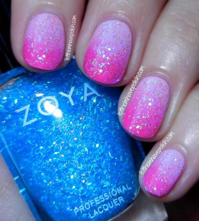 Zoya Mosheen over Pink gradient