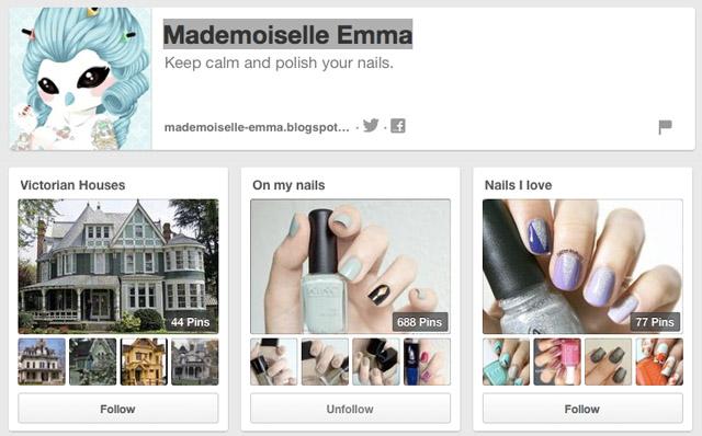 mademoiselle emma nails pinterest