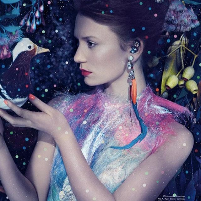 Mia Wasikowska Vogue Australia, nails by @FionaHay