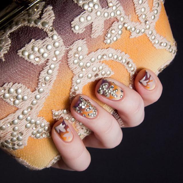 Tadashi Shoji Inspired Nail Art