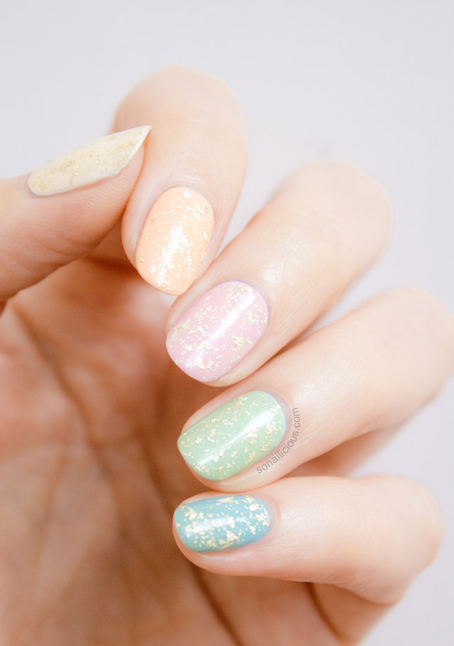 Opi Pure 18k Strikes Again For Easter Egg Nails This Time
