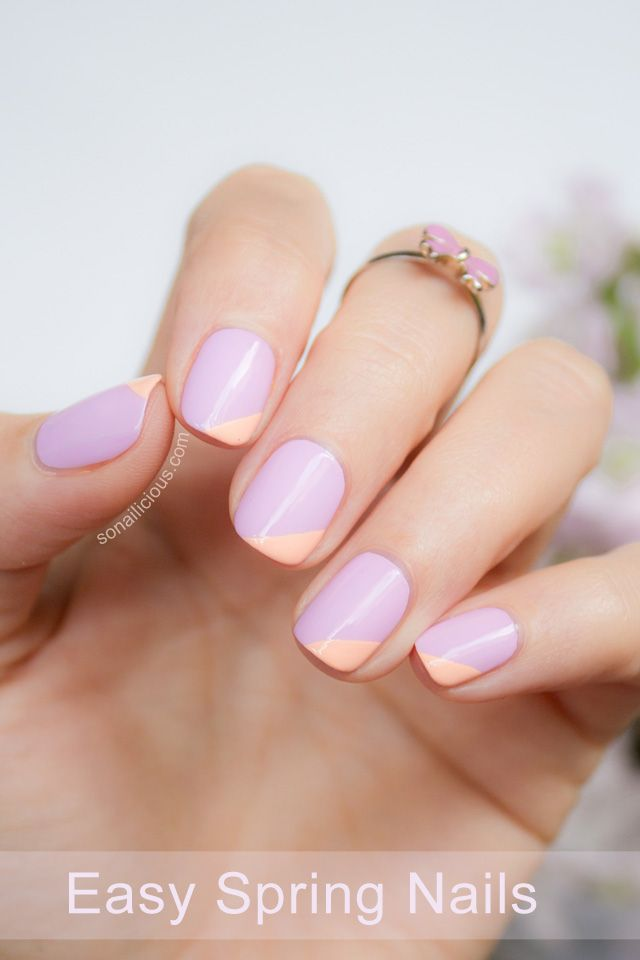 Easy spring nail design by SoNailicious