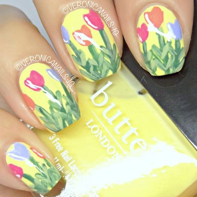 Floral spring nails by VeronicaNails