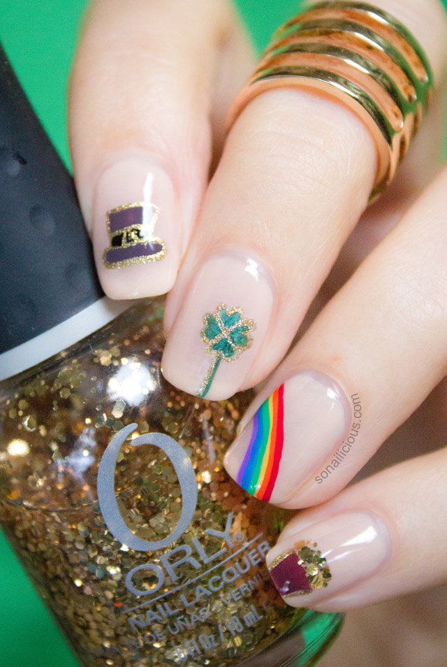 luck of irish st patrick's day nails