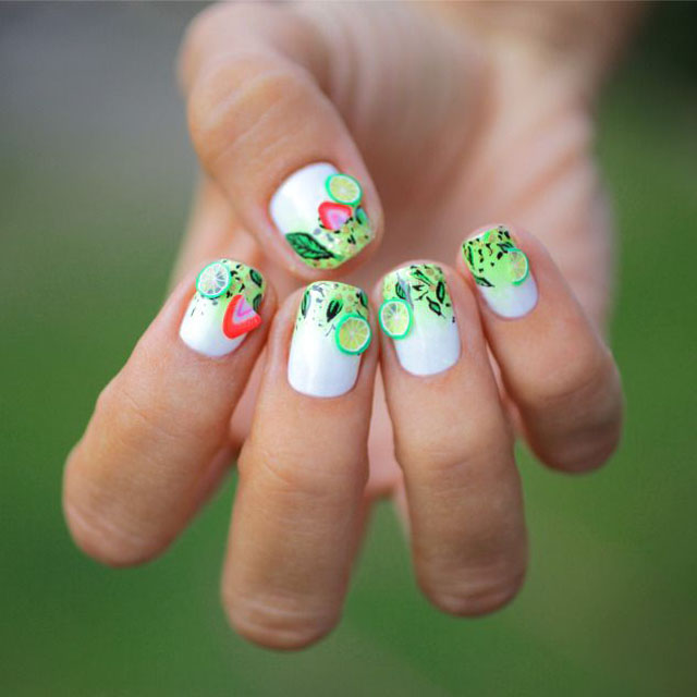 Mojito nails by Pshiiit
