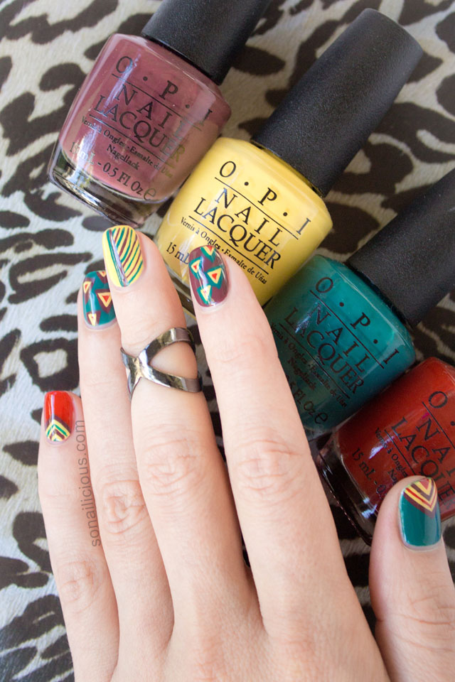 tribal nails opi brazil nail polish