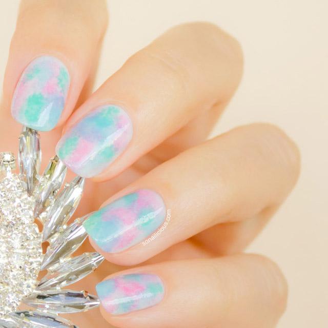 Watercolor nails by SoNailicious
